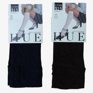 Hue Soft Opaque Knee-Hi Socks - Navy & Espresso